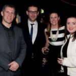 NNI Ad Awards 2012 Ciaran Flynn, Karl Kavanagh and Emma O'Doherty, all News International, with Emma Doherty, Mindshare.