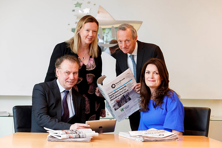 Back row: Jenny Fisher, Head of Legal & Regulatory Affairs Premier Lotteries Ireland, Vincent Crowley, Chairman NewsBrands, Dermot Griffin, CEO Premier Lotteries Ireland, Ann Marie Lenihan CEO NewsBrands